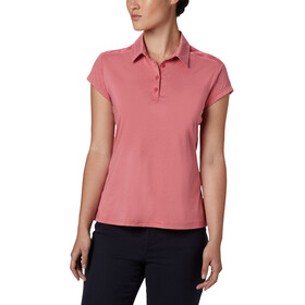 Columbia Peak To Point II Polo Kobiety, rouge pink heather